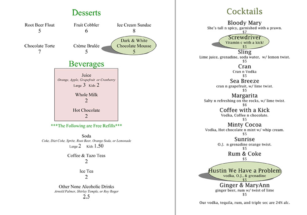 drinks-menu